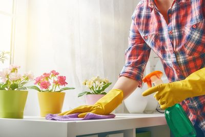 Woman Makes Cleaning